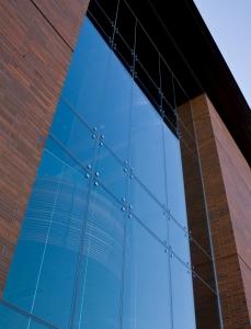 A commercial glass wall in Louisville Kentucky