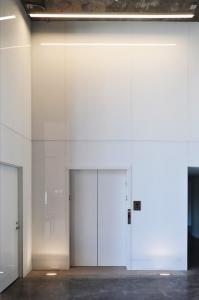 Glass Walls surrounding an elevator