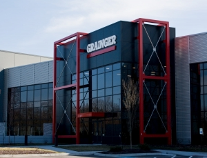 commercial glass doors and a commercial glass facade