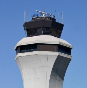 Glass installed at the air traffic control tower