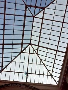 Repairing a glass skylight