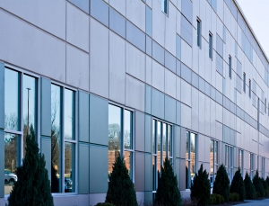 Glass windows on a warehouse or offices